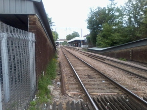 from the level crossing Highams Park Station E4